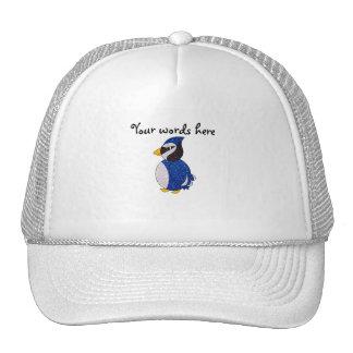 Glitter blue jay trucker hat