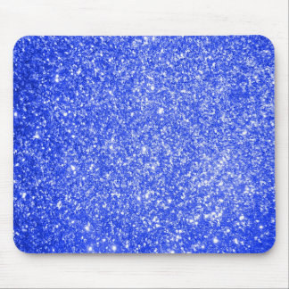 Glitter Blue Mouse Pads