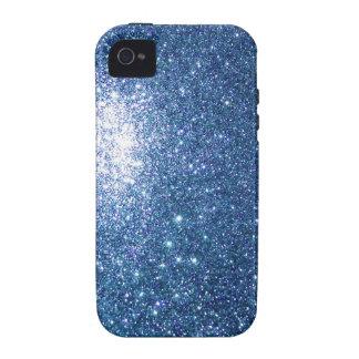 Glitter Blue Starfield Case-Mate iPhone 4 Cases