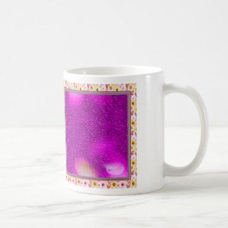 Glitter Bokeh, hot pink Classic White Coffee Mug