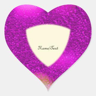Glitter Bokeh, hot pink Heart Sticker