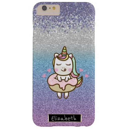 Glitter Bokeh Ombre,Violet Diamonds,Unicorn Donut Barely There iPhone 6 Plus Case