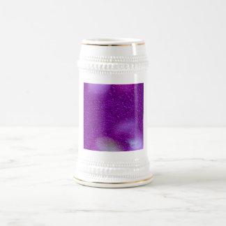 Glitter Bokeh, purple 18 Oz Beer Stein
