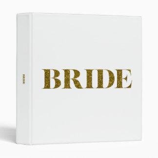 Glitter Bride Gold 3 Ring Binder