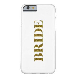 Glitter Bride Gold Barely There iPhone 6 Case