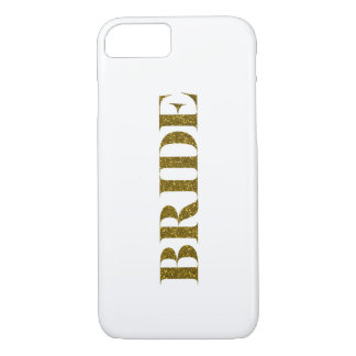 Glitter Bride Gold iPhone 7 Case