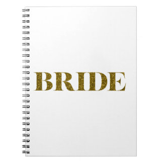 Glitter Bride Gold Notebook