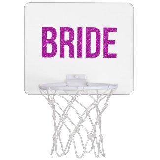 Glitter Bride Pink Mini Basketball Backboard