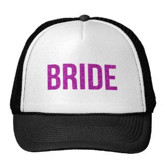 Glitter Bride Pink Trucker Hat