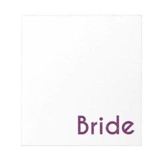 Glitter Bride Purple Notepad