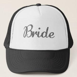 Glitter Bride Silver Trucker Hat