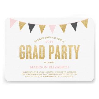 Glitter Bunting | Graduation Party Invitation