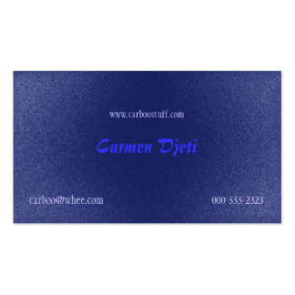 glitter burst (blue) Double-Sided standard business cards (Pack of 100)
