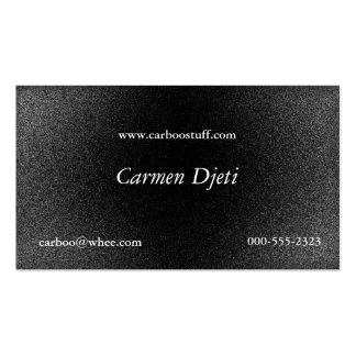 glitter burst (silver) Double-Sided standard business cards (Pack of 100)
