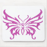 Glitter Butterfly Mouse Pad