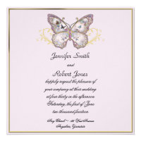 Glitter Butterfly on Lavender Wedding Invitation (<em>$2.20</em>)