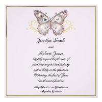 Glitter Butterfly on Lavender Wedding Invitation (<em>$2.31</em>)
