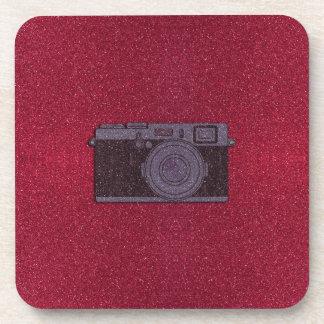 Glitter Camera Beverage Coaster