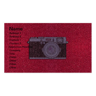 Glitter Camera Double-Sided Standard Business Cards (Pack Of 100)