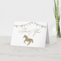 Glitter Carousel Horse | Thank You