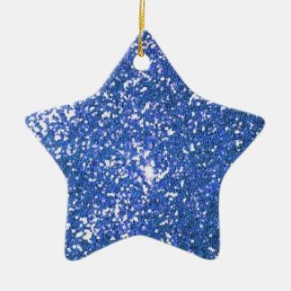 glitter ceramic ornament