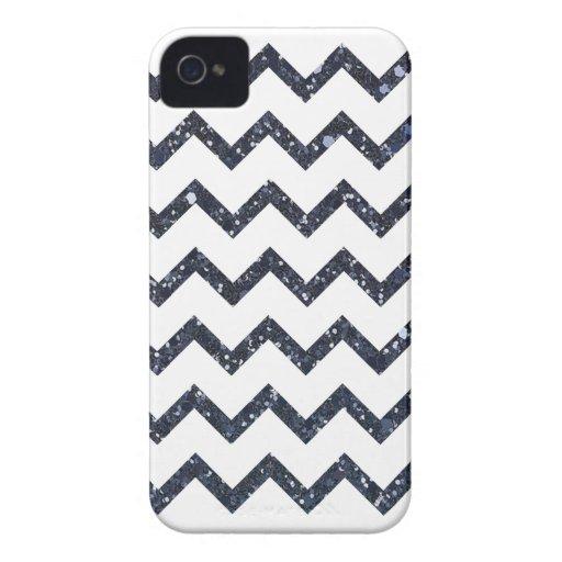 Glitter Chevron Pattern Case-Mate iPhone 4 Cases