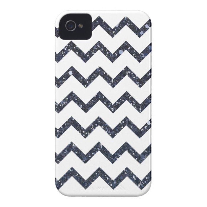 Glitter Chevron Pattern iPhone 4 Case