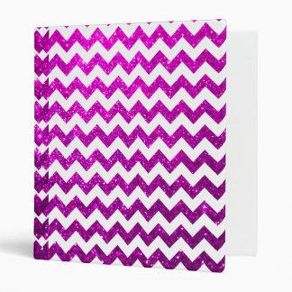 Glitter Chevron Pink Vinyl Binder