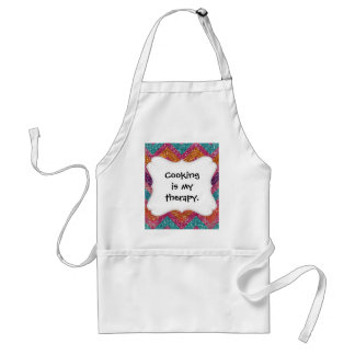 Glitter Chevron Pink Purple Orange Teal Adult Apron