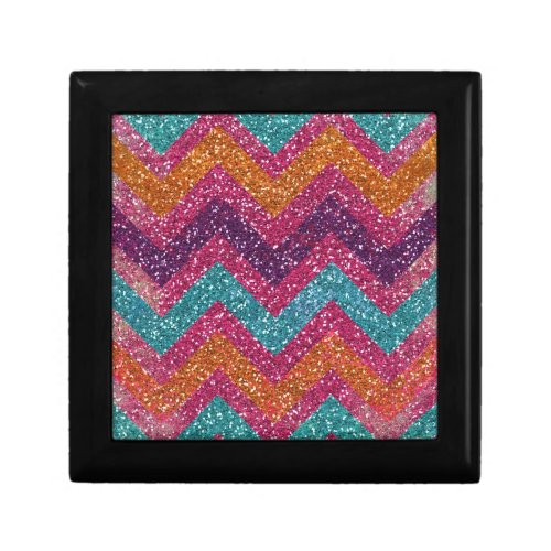 Glitter Chevron Pink Purple Orange Teal Gift Boxes