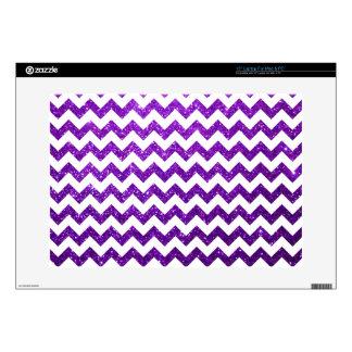 Glitter Chevron Purple Laptop Decals