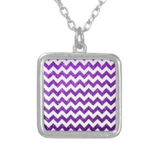 Glitter Chevron Purple Custom Jewelry
