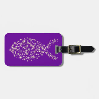 Glitter Christian Fish Symbol Bag Tag