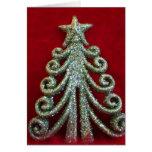 Glitter Christmas tree Cards