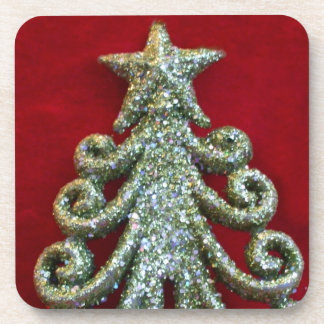 Glitter Christmas tree Coaster