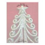 Glitter Christmas tree Customized Letterhead
