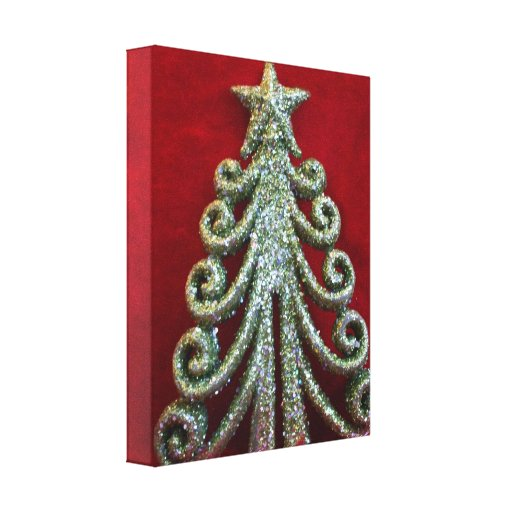 Glitter Christmas tree Gallery Wrapped Canvas
