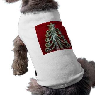 Glitter Christmas tree Pet Tee Shirt