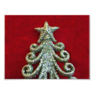 Glitter Christmas tree Photo Print
