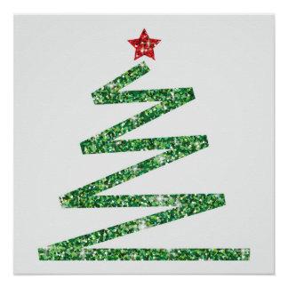 Glitter Christmas tree Poster