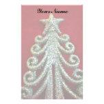 Glitter Christmas tree Stationery Paper