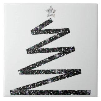 Glitter Christmas tree Tile