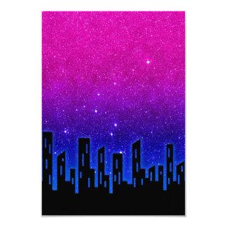 Glitter City Scape 3.5x5 Paper Invitation Card