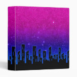 Glitter City Scape 3 Ring Binder