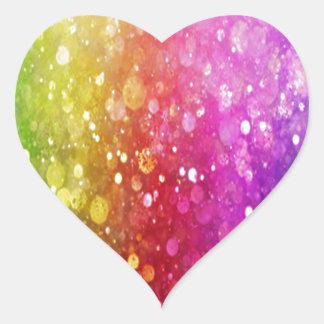 glitter,colorful,orbs,glam,girly,chakra,trendy,fun heart sticker