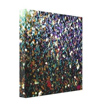 Art Themed Glitter comet & stars canvas print