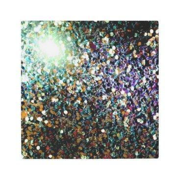 Art Themed Glitter comet & stars metal print
