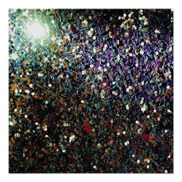 Art Themed Glitter comet & stars poster