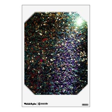 Art Themed Glitter comet & stars wall sticker
