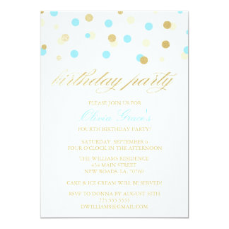 Glitter Confetti Birthday Invitations